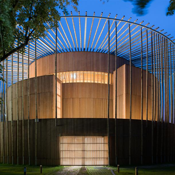 Le théâtre d'Hardelot, prix de la meilleure construction en bois dans le monde
