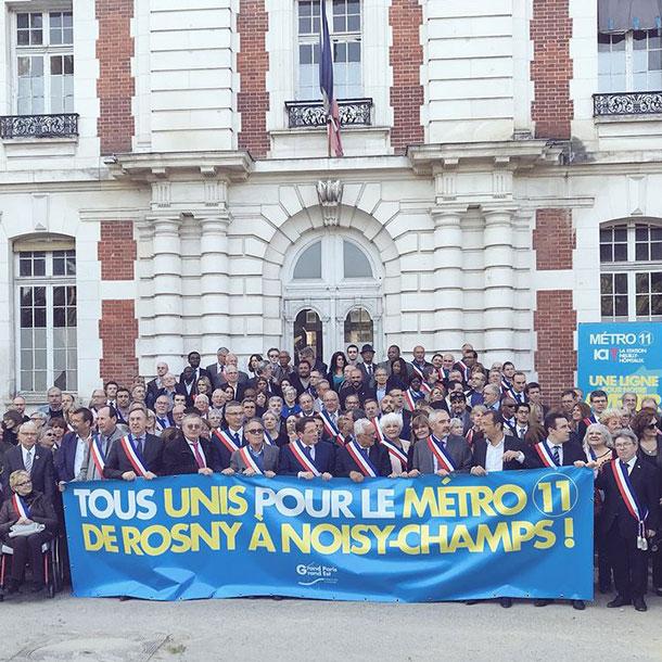 Grand Paris: 170 élus de banlieue mobilisés pour le prolongement du métro
