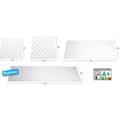 Dalle podotactile extra grande  largeur 1 350