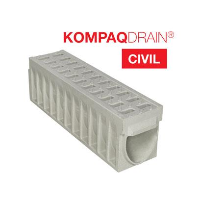 KOMPAQDRAIN® CIVIL, le caniveau compact F900